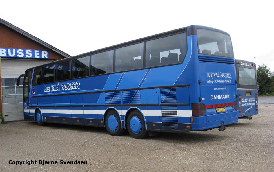 blå busser